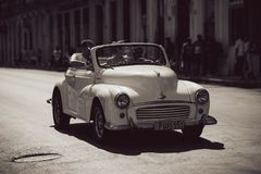 Old white vintage car royalty free stock image