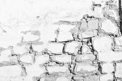Old white  vintage stone wall background. Old white grunge vintage stone wall background Stock Images