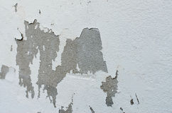 Old white wall with cracks Royalty Free Stock Image
