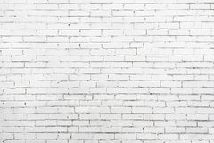 Old white wall made of brick. Good texture for background. Old brick wall white painted for montages. Horizontal frame Royalty Free Stock Photos