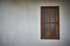 Old White Wall with Window Stock Photos