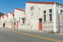 Free Old White Weathered Warehouse Buildings Shelly Beach Road, Miramar Stock Photo - 68863550