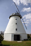 Old white windmill Royalty Free Stock Images