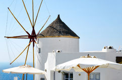 Old white windmill on Santorini island, Greece Stock Photography