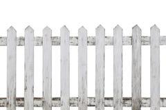 Old white wood fence isolated on white background. Wood fence isolated stock photo