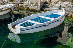 Old white wooden boat Royalty Free Stock Photography