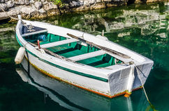 Old white wooden boat Stock Photography