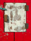 Old white wooden shutter Royalty Free Stock Photos