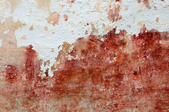 Old whitewash wall and cracked cement background Stock Photo
