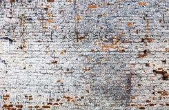 The old whitewashed brick wall Stock Photo