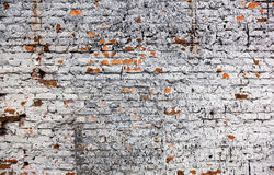 The old whitewashed brick wall Royalty Free Stock Photo