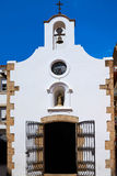Old whitewashed church in tossa de mar Stock Photos