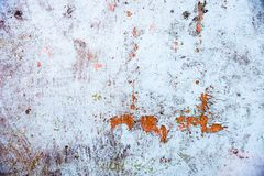Old whitewashed wall with rich and various texture Stock Photo