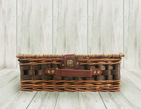 Old wicker bag Royalty Free Stock Image