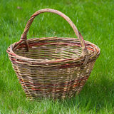 Old wicker basket Stock Photo
