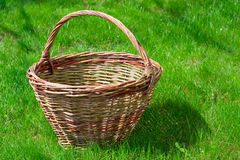 Old wicker basket Stock Image