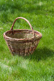 Old wicker basket Stock Photos