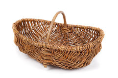 Old wicker basket Royalty Free Stock Images