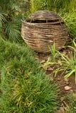 Old Wicker basket in a garden Stock Photos
