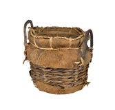 Old wicker basket stock photo