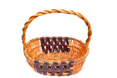 Old wicker basket Stock Photography