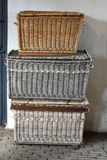 Old wicker boxes Royalty Free Stock Photos