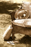 Old wicker chair Royalty Free Stock Image