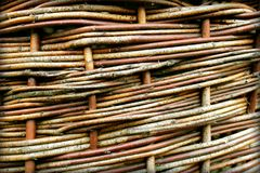 Old wicker texture used as a background Royalty Free Stock Photography