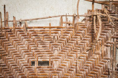 Old Wicker wood pattern Royalty Free Stock Photos