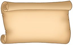 Old wide parchment. Color illustration Royalty Free Stock Image