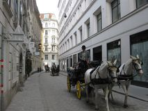 Old Wien Street. Historic buildings from the centre of Wien, Austria Royalty Free Stock Images