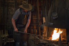 Old Wild West Blacksmith Royalty Free Stock Photography