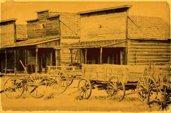 Old wild west stock photography