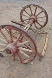 Old wild west carriage wheels Stock Images