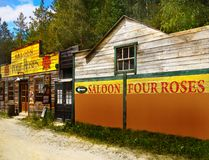 Old Wild West Cowboy Town Saloon, America Royalty Free Stock Image