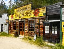 Old Wild West Cowboy Town Saloon, America Royalty Free Stock Photography