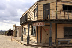 Old Wild West Cowboy Town Saloon USA stock images