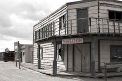 Old Wild West Cowboy Town Saloon USA royalty free stock photos