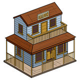 Old Wild West Isometric Saloon Royalty Free Stock Image