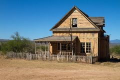 Old Wild West Town Movie Set in Mescal, Arizona stock photos