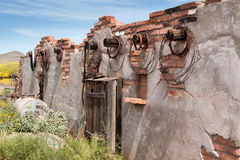 Old Wild West Town Buildings. Crooked old wild west buildings Stock Photography