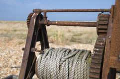 Old winch Stock Photos