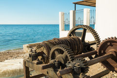 Old winch Stock Images