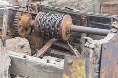 Old Winch with Chain royalty free stock photography