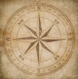 Old wind or compass rose on grunge paper. Background royalty free illustration