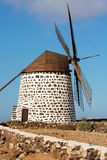 Old wind mill in fuerteventura island Stock Photography
