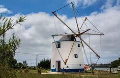 Old wind mill on Torres Vedras Portugal. Ericeira Portugal. 17 May 2017.Old wind mill on Ericeira.Ericeira, Portugal. photography by Ricardo Rocha stock images