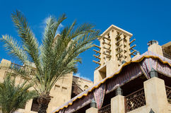 Old wind towers, Arabian architecture, Dubai, UAE. Royalty Free Stock Photography