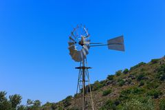 Old Wind Turbine Stock Image