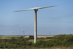 Old wind turbines Stock Images